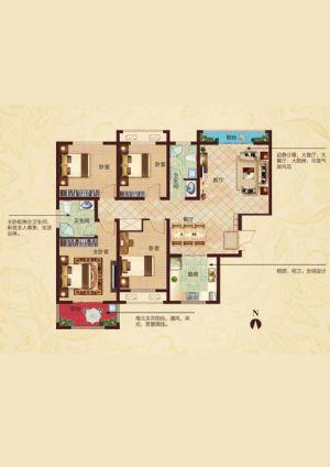 C3户型-四室二厅二卫一厨-户型图