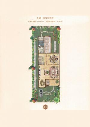 T2户型-室厅卫厨-户型图
