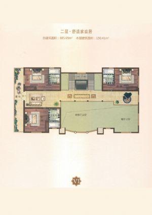 V1户型-室厅卫厨-户型图