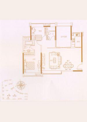 02户型-二室二厅二卫一厨-户型图