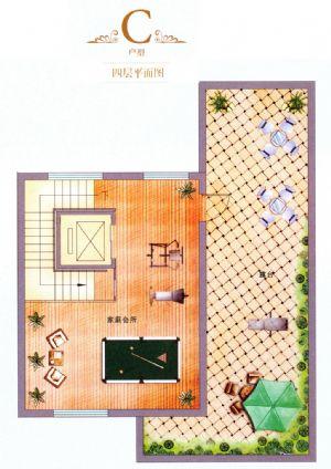 C户型-室厅卫厨-户型图