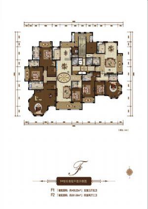 F1户型-五室三厅五卫一厨-户型图