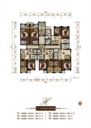 H1户型-二室一厅一卫一厨-户型图