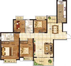 20#-四室二厅二卫一厨-户型图