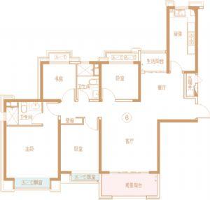 -四室二厅二卫一厨-户型图