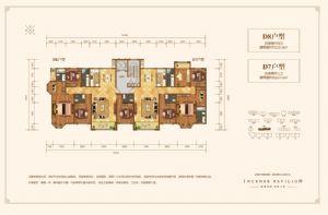 D8户型-四室二厅四卫一厨-户型图