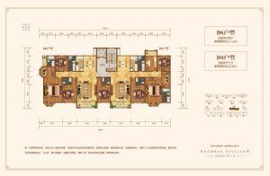 D4户型-四室二厅三卫一厨-户型图