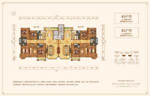 E2户型-四室二厅四卫一厨-户型图