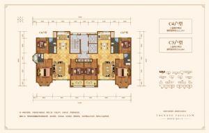 C3户型-三室二厅二卫一厨-户型图