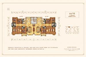 E1户型-四室二厅四卫一厨-户型图