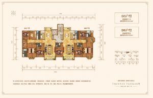 D5户型-四室二厅四卫一厨-户型图