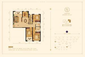 G户型-四室二厅二卫一厨-户型图