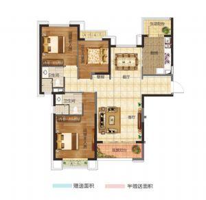 15#三居室-三室二厅二卫一厨-户型图
