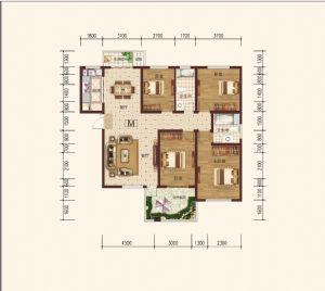 M偶-四室二厅二卫一厨-户型图