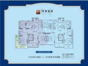 A-1-四室二厅二卫一厨-户型图