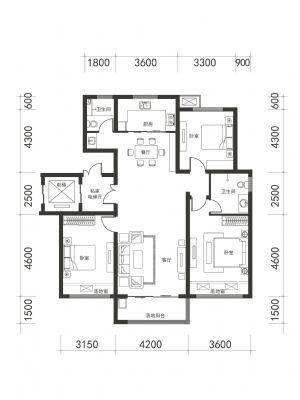 A-1-室厅卫厨-户型图