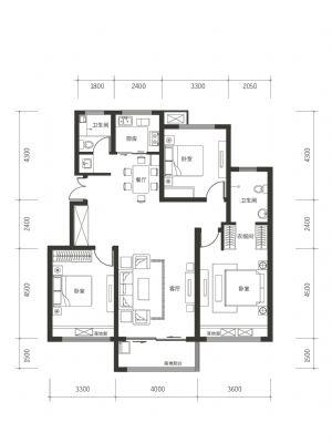 A-2-室厅卫厨-户型图