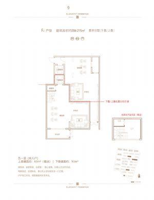 F2户型负一层南入户-室厅卫厨-户型图