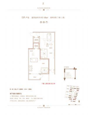 F、F1户型负一层南入户-室厅卫厨-户型图