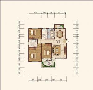 C-2奇-三室二厅二卫一厨-户型图