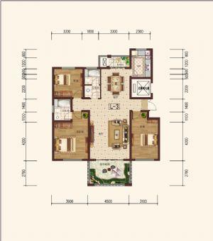 L-3奇-三室二厅二卫一厨-户型图
