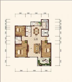 L-4偶-三室二厅二卫一厨-户型图