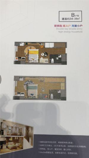 B户型-室厅卫厨-户型图