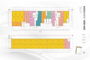 易购时代2#6#商业平面图-室厅卫厨-户型图
