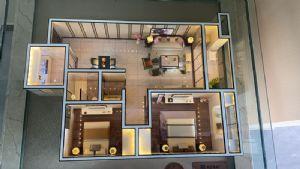 -二室二厅一卫一厨-户型图