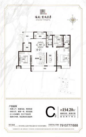 C2-四室二厅二卫一厨-户型图