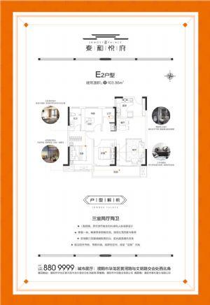E2-三室二厅二卫一厨-户型图