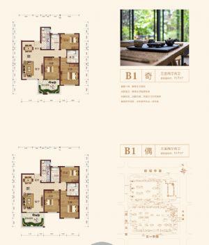 B1-三室二厅二卫厨-户型图