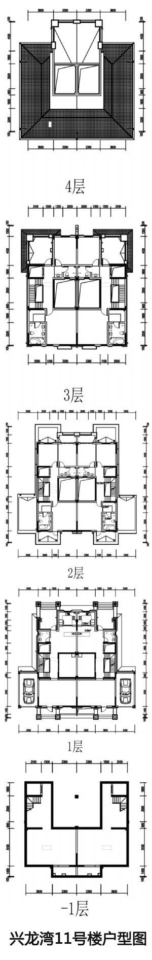 兴龙湾11号楼户型图-室厅卫厨-户型图