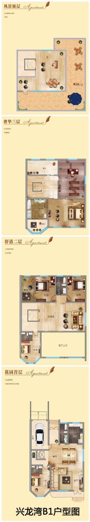 兴龙湾B1户型图-室厅卫厨-户型图