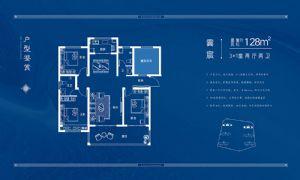 雲宸-三室二厅二卫一厨-户型图