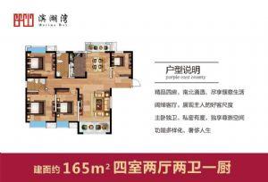 165-四室二厅二卫一厨-户型图