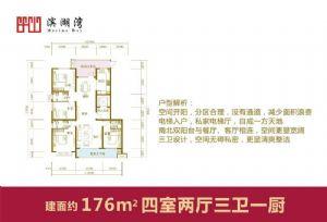 176-四室二厅三卫一厨-户型图