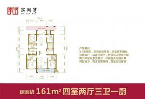 161-四室二厅三卫一厨-户型图