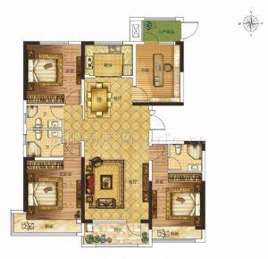 A户型-四室二厅三卫一厨-户型图