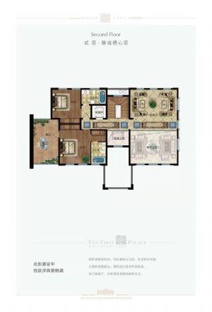 双拼V3户型-六室三厅五卫厨-户型图