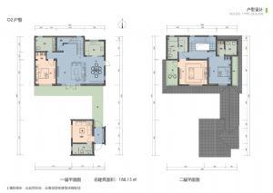 D2户型-四室二厅四卫一厨-户型图