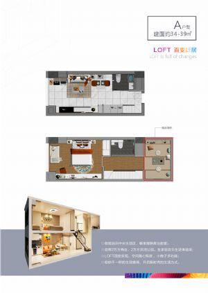 A户型-二室二厅二卫厨-户型图