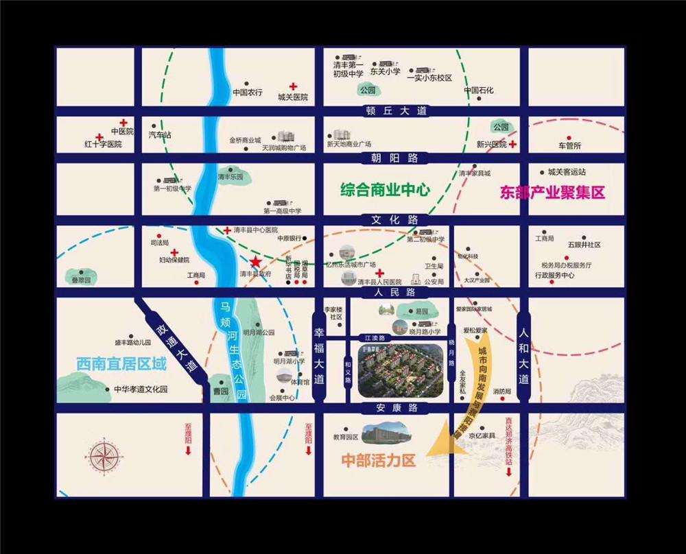 千亿体育app碧桂园汇丰翡翠郡区位图