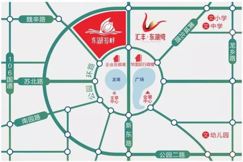 千亿体育app东湖花畔区位图