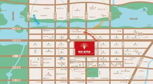 千亿体育app中房越秀城二期区位图