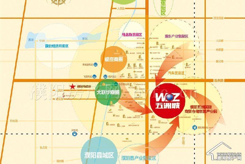 千亿体育app五洲兴隆国际城区位图